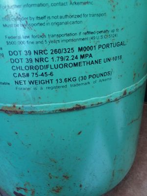 Arkema 30 pound R-22 Freon for Sale in Spring, TX
