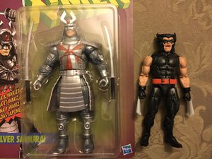 Marvel Legends vintage wave lot silver samurai & black wolverine for Sale in Wichita, KS