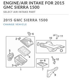 OEM 2014-2016 GMC Sierra Air Intake for Sale in Marietta, GA