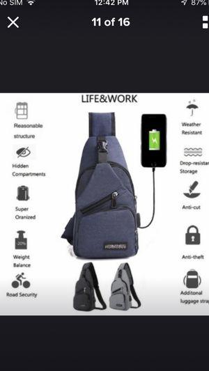 Chest bag black/blue/gray for Sale in Irving, TX