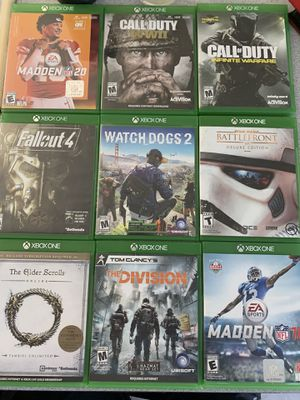 Xbox games $5 each for Sale in Pleasant Hill, CA