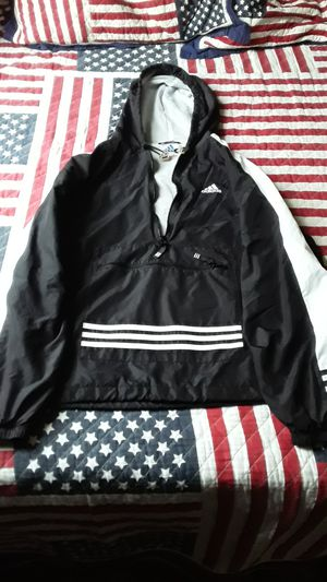 Black & White Adidas Wind Breaker Pullover Hoodie for Sale in St. Louis, MO