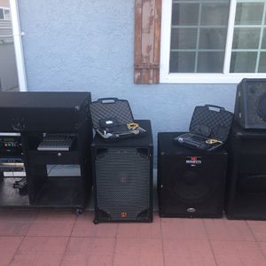 Audio professional DJ Equipments Speakers Shute Microphones Everything $350 for Sale in Lakewood, CA
