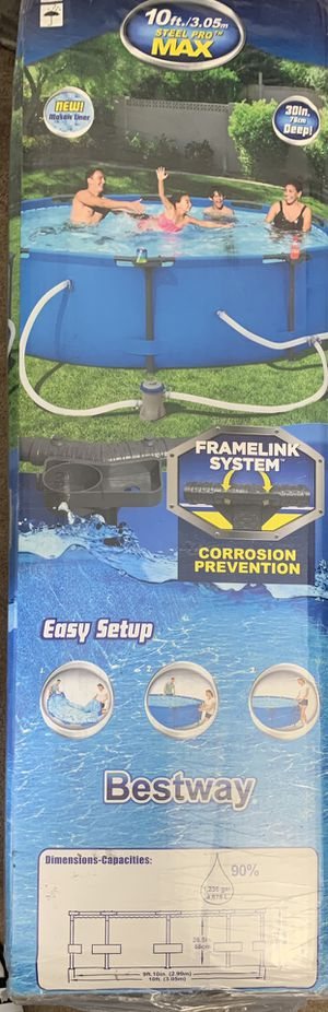 BRAND NEW Bestway Pool w Pump for Sale in Beverly, MA