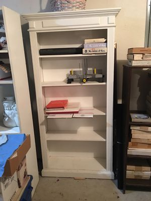 Shabby white bookcase for Sale in Everett, WA