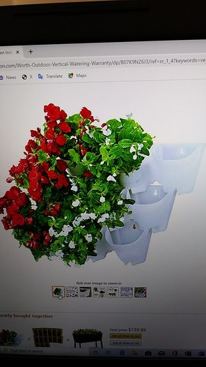 Indoor outdoor wall mounted planter set for Sale in Riverside, CA