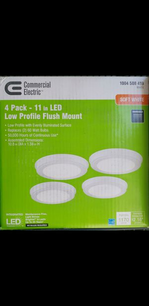 "4 pack 11 "" low profile LED flush mount for Sale in Bakersfield, CA"