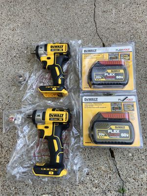 """Dewalt XR brushless 3/8"""" compact impact MODEL DCF890 with 6.0AH battery $160 each firm for Sale in Houston, TX"""