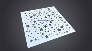 Stars Cake Side Cookie Fondant Stencil Plastic Spray Decorating Bakeware Mould for Sale in Portland, OR
