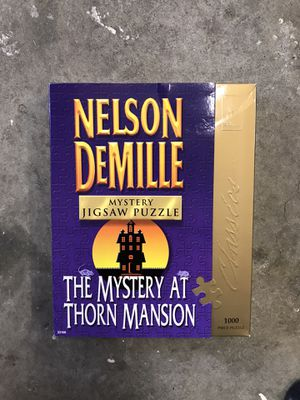 University Games - Nelson DeMille Mystery Jigsaw Puzzle The Mystery at Thorn Mansion 1000 Piece Puzzle for Sale in Renton, WA