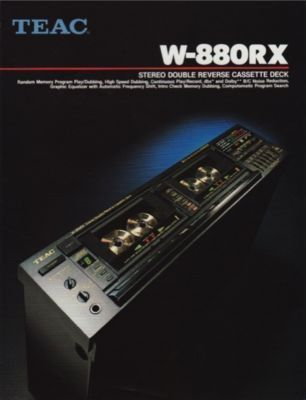 TEAC W-880RX *MINT* PROFESSIONAL DUAL CASSETTE TAPE DECK W/ AUTOMATIC FREQUENCY SHIFT GRAPHIC EQUALIZER