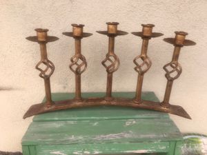 Gold iron candle holder for Sale in Costa Mesa, CA