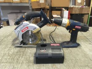 Ryobi 18 Volt Cordless Hammer Drill, Circular Saw & Charger (NO BATTERIES) for Sale in Las Vegas, NV