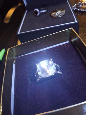 Large white topaz ring for Sale in Akron, OH