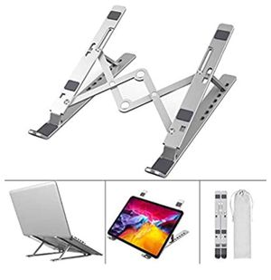 Adjustable Laptop Stand, Portable Aluminum Computer Stand Laptop Holder for Desk, Foldable Ventilated Cooling Notebook Stand for MacBook Pro/Air, HP, for Sale in Upland, CA