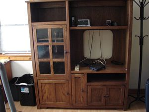 Entertainment Center Dark Oak for Sale in Boyne City, MI