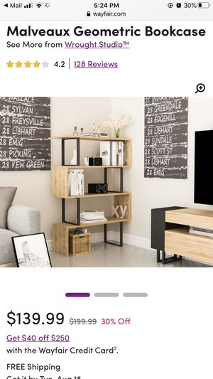 Wayfair Bookshelf in black/white for Sale in Oakland, CA