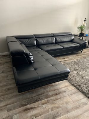 sectional leather couch for Sale in Salt Lake City, UT