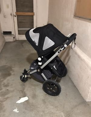 Bugaboo stroller black color with adapter for Britax carseat for Sale in San Leandro, CA