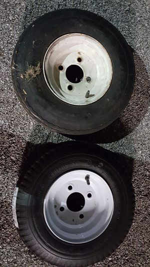 Two trailer tires. 4.80/4.00 LOAD RANGE B. for Sale in Forest Park, IL