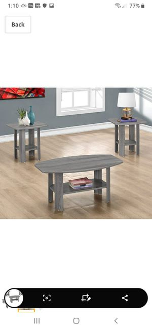 New in box coffee table and 2 end tables for Sale in Charlotte, NC
