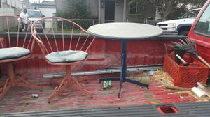 Outside Metal table and ad chairs for Sale in Compton, CA