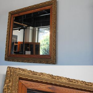 Antique Gesso and Oak Mirror for Sale in Seattle, WA