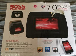Boss dvd player headrest for Sale in Wichita, KS