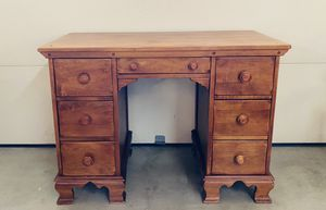 Antique desk solid wood, chair included for Sale in Alta Loma, CA