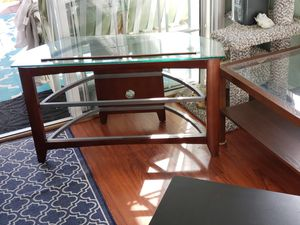 tv stand. coffee table, small square table and picture, all for $50.00 for Sale in San Marcos, CA