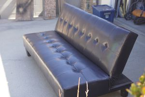 Leather Couch/Futon for Sale in Downey, CA