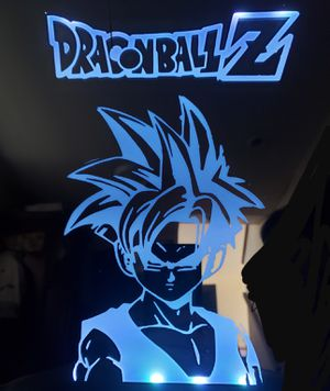 Dragonball Z etched lighted mirror for Sale in Westminster, CO