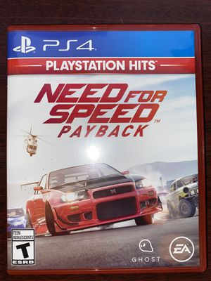 PS4 2017 Need For Speed Payback for Sale in Raleigh, NC