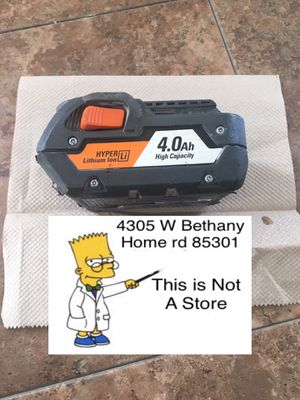 Used RIDGID Battery (No Trade) 43rd ave/Bethany for Sale in Glendale, AZ