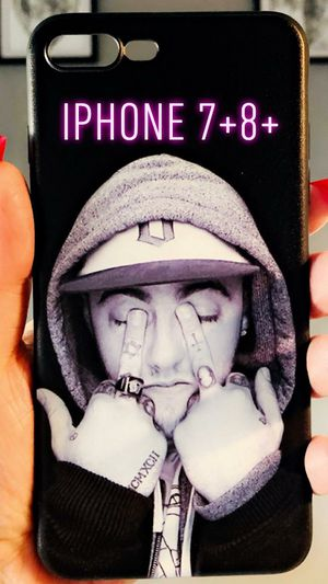 New iphone 7+ or iphone 8+ plus case rubber Mac Miller hip hop phone case for Sale in San Bernardino, CA