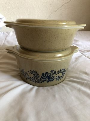 Pyrex homestead casseroles for Sale in Fresno, CA