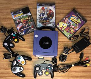 GameCube w/ 3 controllers, 3 games, and a Memory Card for Sale in West Chester, PA