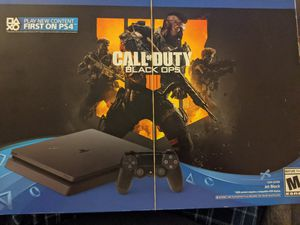 PlayStation 4 Slim 1TB Console - Call of Duty: Black Ops 4 Bundle [Discontinued] for Sale in San Jose, CA