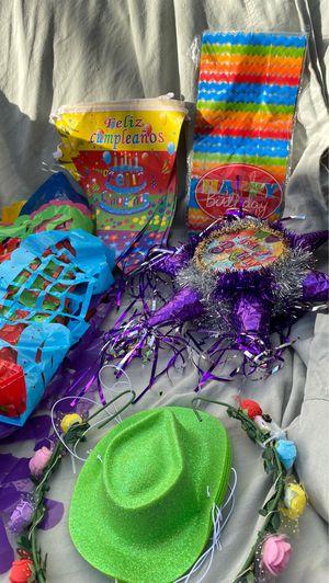 Fiesta party supplies happy birthday, Hawaiian leas Hawaiian coconuts for Sale in Monterey Park, CA