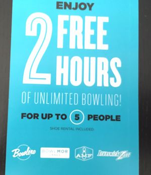 5 person, Bowling Boucher, ticket for Sale in Hacienda Heights, CA