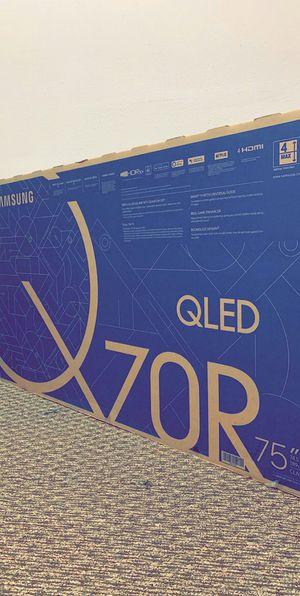 "Samsung TV QLED 75"" Q70R - Brand New In Box - QN75Q70RAF - Retails For $1999 Plus Tax for Sale in Arlington, TX"