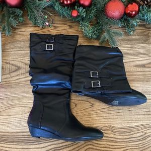 Faux Leather Wedge Boots for Sale in Aurora, CO