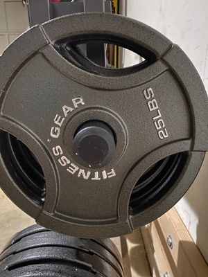 25 pound weight plates available $2.00 per pound for Sale in Alexandria, VA