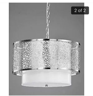Nickel drum chandelier for Sale in Rockville, MD