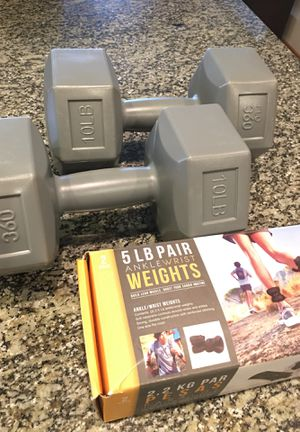 Set of Dumbbells and ankle weights for Sale in Seattle, WA