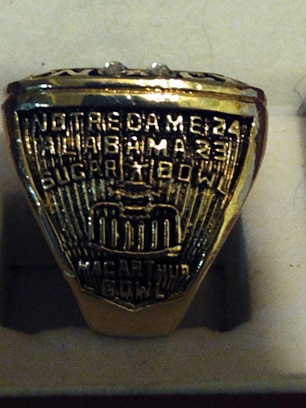 Notre Dame Championship Ring