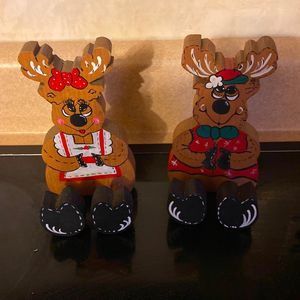 Wooden Christmas Reindeer Decorations for Sale in Aliquippa, PA