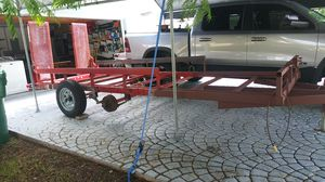 Utility Trailer 5 1/2 feet wide by 16 feet long tandem axle for Sale in Miami, FL