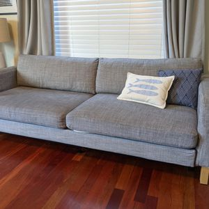 IKEA Karlstad Heather Light Gray Sofa Bed for Sale in Portland, OR