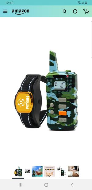 Peteme Shock Collars for Dogs with Remote, Dog Shock Training Collar for Sale in Fontana, CA